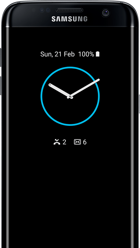 AOD de type Horloge sur galaxy s7 edge screen
