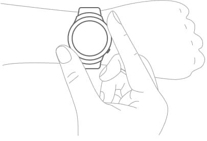 Illustration du cadran en train d'être tourné