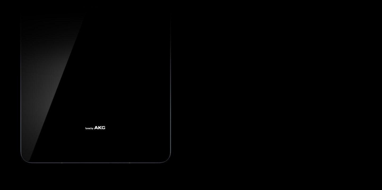 Retro del Galaxy Tab S3 con il logo AKG