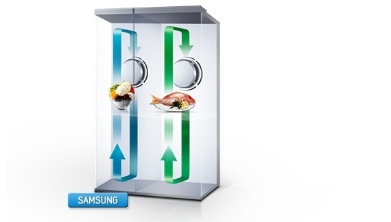 Twin Cooling System™ Side By Side 584L refrigerator | SRS583NLS | RS552NRUASL | Samsung NZ